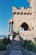 kids on the steps of castle outside calahorra