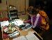 rachel doing homework