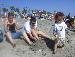 deborah, devaunt, and bastian at the beach