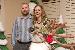 rachel, timothy, and a reindeer, xmas 2010